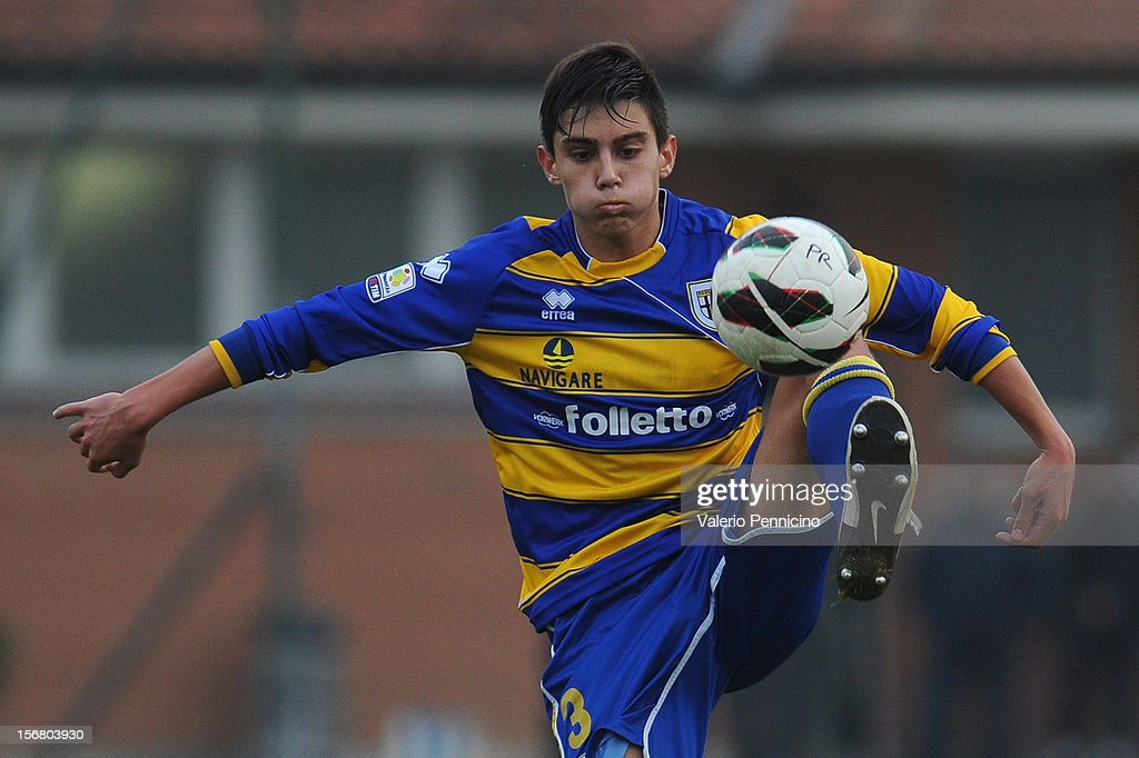 Dell Orco of FC Parma in action during the Juvenile match between Juventus FC and FC Parma at Juventus Center Vinovo on November 21, 2012 in Vinovo, Italy.