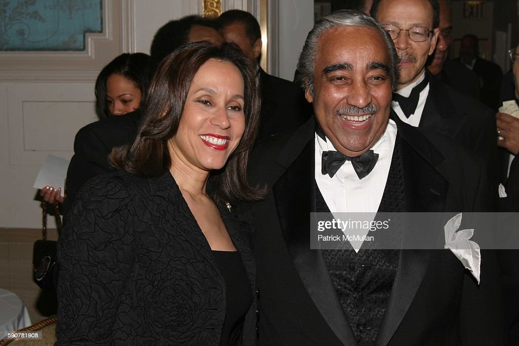 Della Britton Baeza and Charles B Rangel attend The Jackie Robinson Foundation Awards Ceremony at The Waldorf Astoria on March 7 2005 in New York City