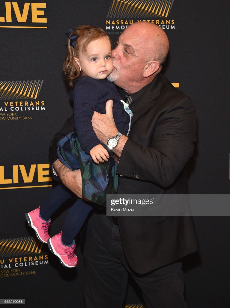Della Rose Joel and Billy Joel backstage before he perfoms at the newly rennovated Nassau Coliseum, Long Island on April 5, 2017 in New York City.