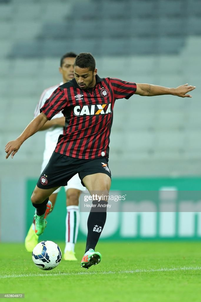 Dellatorre of Atletico-PR during the match between Atletico-PR and Fluminense for the Brazilian Series A 2014 at Arena da Baixada on July 27, 2014 in Curitiba, Brazil.