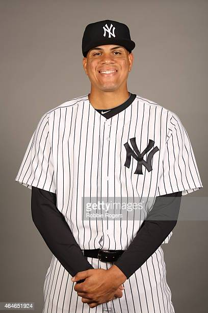 Dellin Betances of the New York Yankees poses during Photo Day on Friday February 27 2015 at George M Steinbrenner Field in Tampa Florida