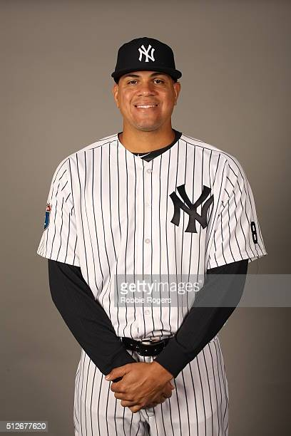 Dellin Betances of the New York Yankees poses during Photo Day on Saturday February 27 2016 at George M Steinbrenner Field in Tampa Florida