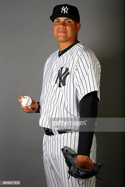 Dellin Betances of the New York Yankees poses for a portrait on February 27 2015 at George M Steinbrenner Stadium in TampaFlorida