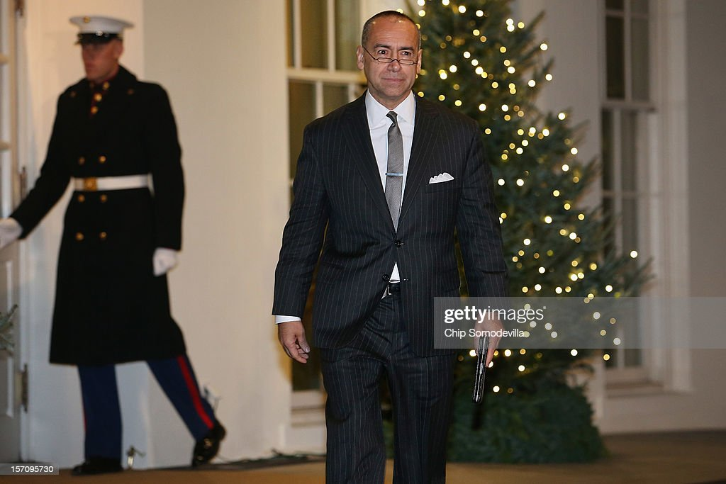 Deloitte LLP CEO Joe Echeverria leaves the White House after a meeting with President Barack Obama and other business leaders November 28, 2012 in Washington, DC. According to the White House, the American business executives met with Obama to discuss economic growth and deficit reduction.