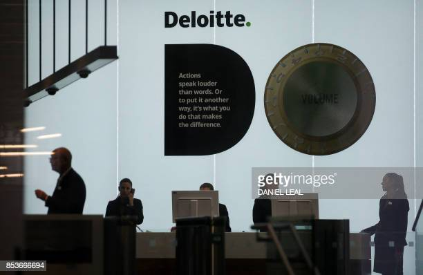 A Deloitte logo is pictured at the company's offices in London on September 25 2017 Deloitte said Monday that 'very few' of the accounting and...