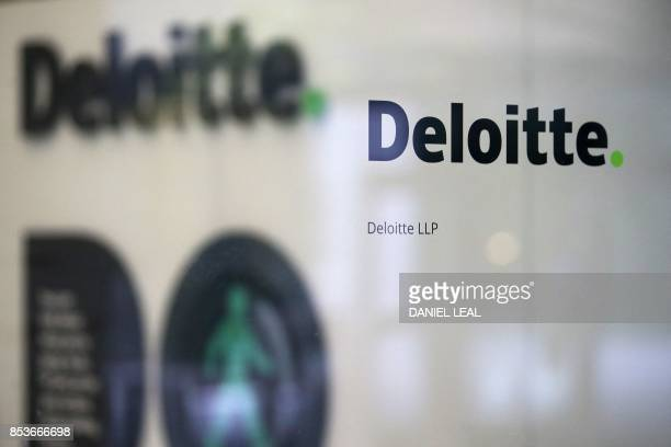 A Deloitte logo is pictured outside the company's offices in London on September 25 2017 Deloitte said Monday that 'very few' of the accounting and...
