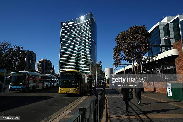 Deloitte offices are seen in central Parramatta on June 3 2015 in Sydney Australia Parramatta is about to become one of Australia's biggest urban...
