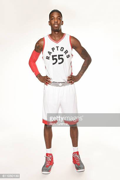 8f9a37623 ... Delon Wright of the Toronto Raptors poses for a portrait during 2016  Media Day on September ...