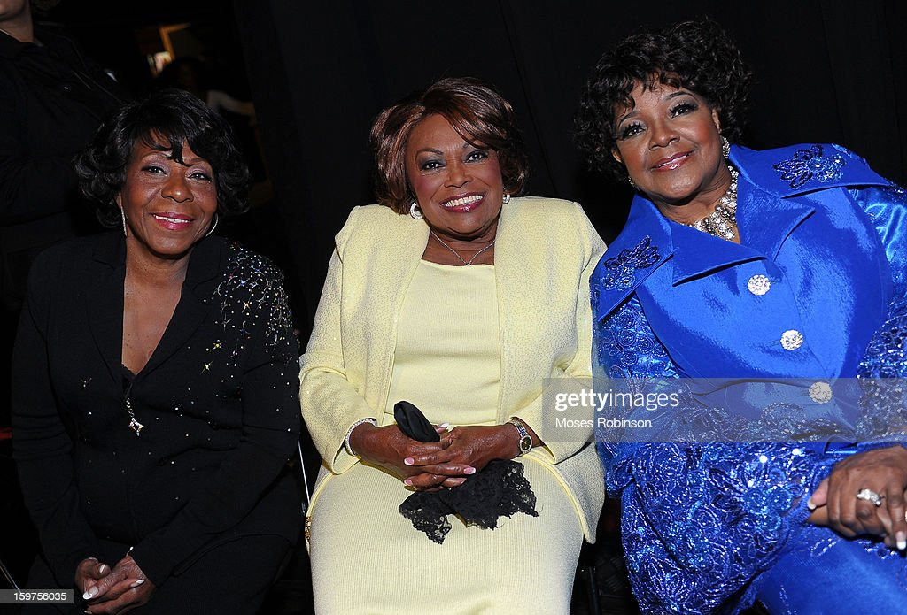 Delores Washington, Dorothy Norwood, and Shirley Caesar attend the 28th Annual Stellar Awards Backstage at Grand Ole Opry House on January 19, 2013 in Nashville, Tennessee.