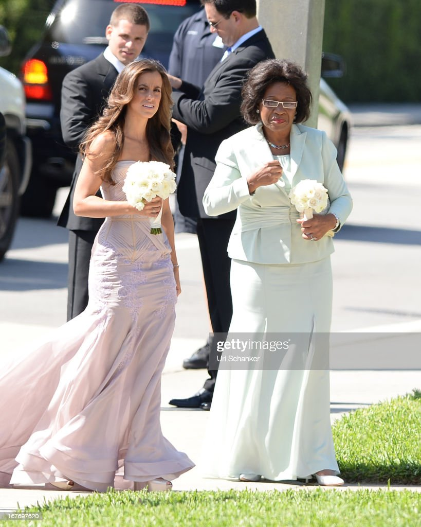 Deloris Jordan arrives at Michael Jordan and Yvette Prieto weddding Bethesda-by-the Sea church on April 27, 2013 in Palm Beach, Florida.
