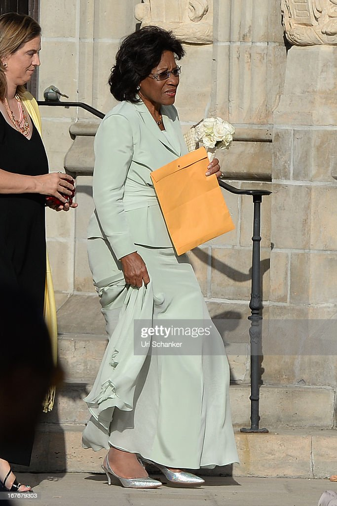 Deloris Jordan is sighted at Michael Jordan and Yvette Prieto wedding Bethesda-by-the Sea church on April 27, 2013 in Palm Beach, Florida.