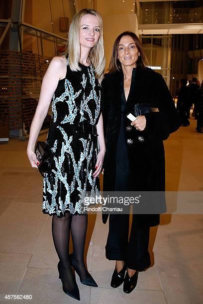 Delphine Arnaud and Phoebe Philo attend the Foundation Louis Vuitton Opening at Foundation Louis Vuitton on October 20 2014 in BoulogneBillancourt...