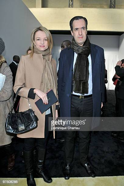 Delphine Arnault and Jaime de Marichalar attend the Celine Ready to Wear show as part of the Paris Womenswear Fashion Week Fall/Winter 2011 at Tennis...