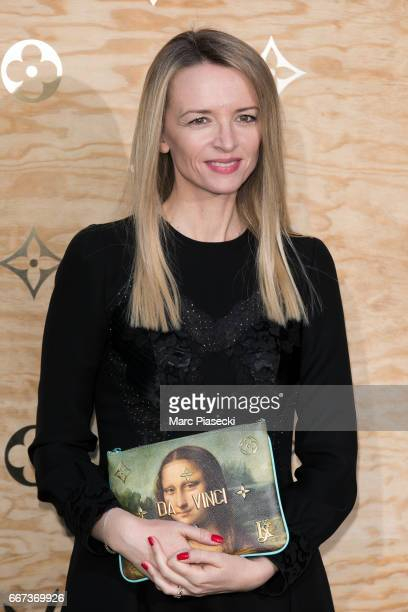 Delphine Arnault attends the 'Louis Vuitton Masters a collaboration with Jeff Koons' dinner at Musee du Louvre on April 11 2017 in Paris France