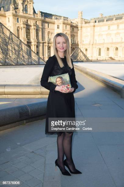 Delphine Arnault attends the Louis Vuitton's Dinner for the Launch of Bags by Artist Jeff Koons at Musee du Louvre on April 11 2017 in Paris France