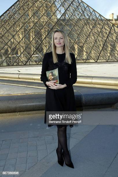 Delphine Arnault attends the 'LVxKOONS' exhibition at Musee du Louvre on April 11 2017 in Paris France