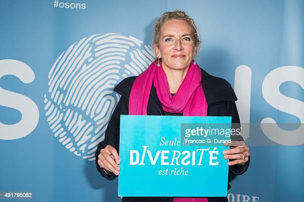 Delphine Batho attends the Nicolas Hulot foundation conference ' L'appel de Nicolas Hulot' at Le Grand Rex on October 7 2015 in Paris France