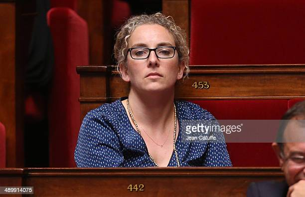 Delphine Batho participates at the Questions to the Government at the French National Assembly on May 7 2014 in Paris France