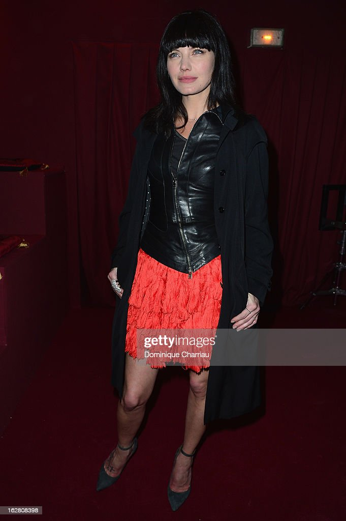 Delphine Chaneac attends the H&M Fashion Show Fall/Winter 2013 Ready-to-Wear show as part of Paris Fashion Week on February 27, 2013 in Paris, France.
