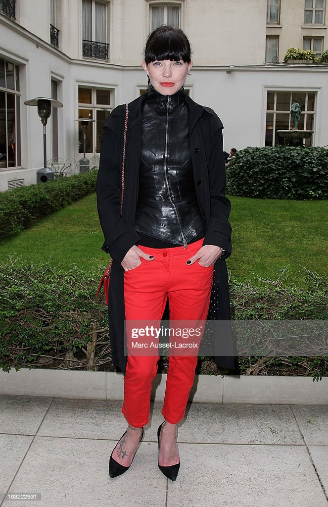 Delphine Chaneac attends the Jitrois Fall/Winter 2013 Ready-to-Wear show as part of Paris Fashion Week on March 6, 2013 in Paris, France.