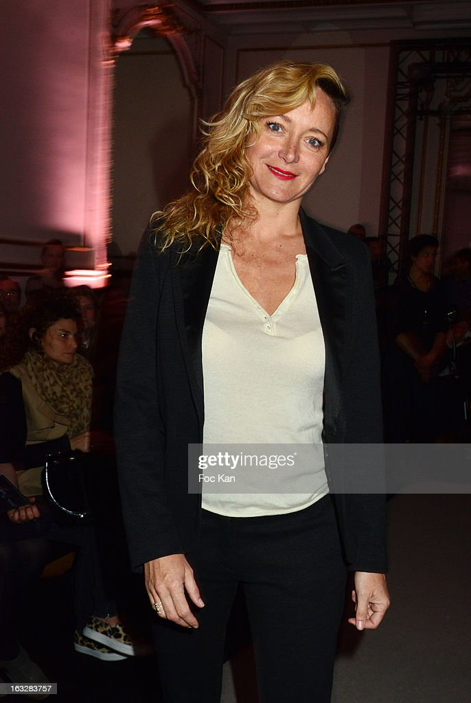 Delphine Chaneac attends the Jitrois - Front Row - PFW F/W 2013 at Hotel Saint James & Albany on March 6, 2013 in Paris, France.