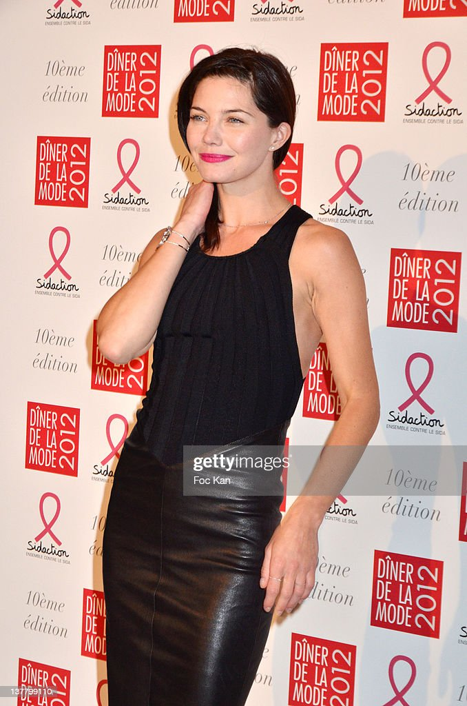 Delphine Chaneac attends the Sidaction Gala Dinner 2012 at the Pavillon d'Armenonville on January 26, 2012 in Paris, France.