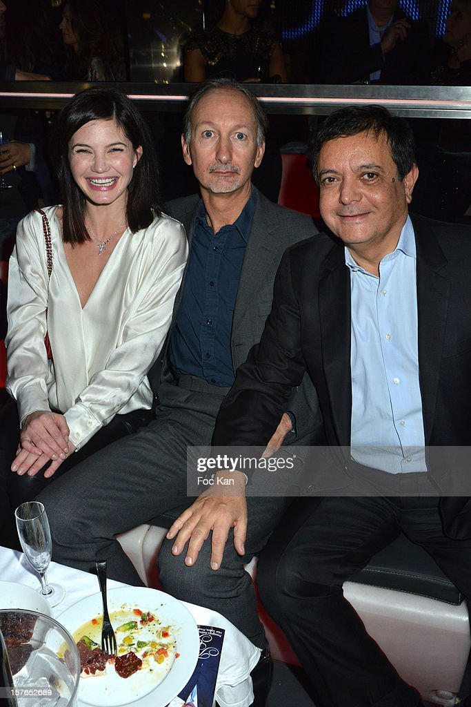 Delphine Chaneac, Bertrand de Saint Vincent and Edouard Nahum attend the Jeweler Edouard Nahum 'Maya' New Collection Launch Party at La Gioia on December 4, 2012 in Paris, France.