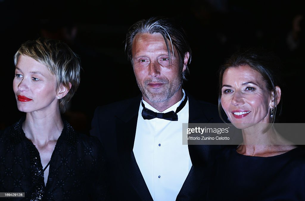 Delphine Chuillot, <a gi-track='captionPersonalityLinkClicked' href=/galleries/search?phrase=Mads+Mikkelsen&family=editorial&specificpeople=3003791 ng-click='$event.stopPropagation()'>Mads Mikkelsen</a> and Hanne Jacobsen attend the 'Michael Kohlhaas' premiere during The 66th Annual Cannes Film Festival at the Palais des Festival on May 24, 2013 in Cannes, France.