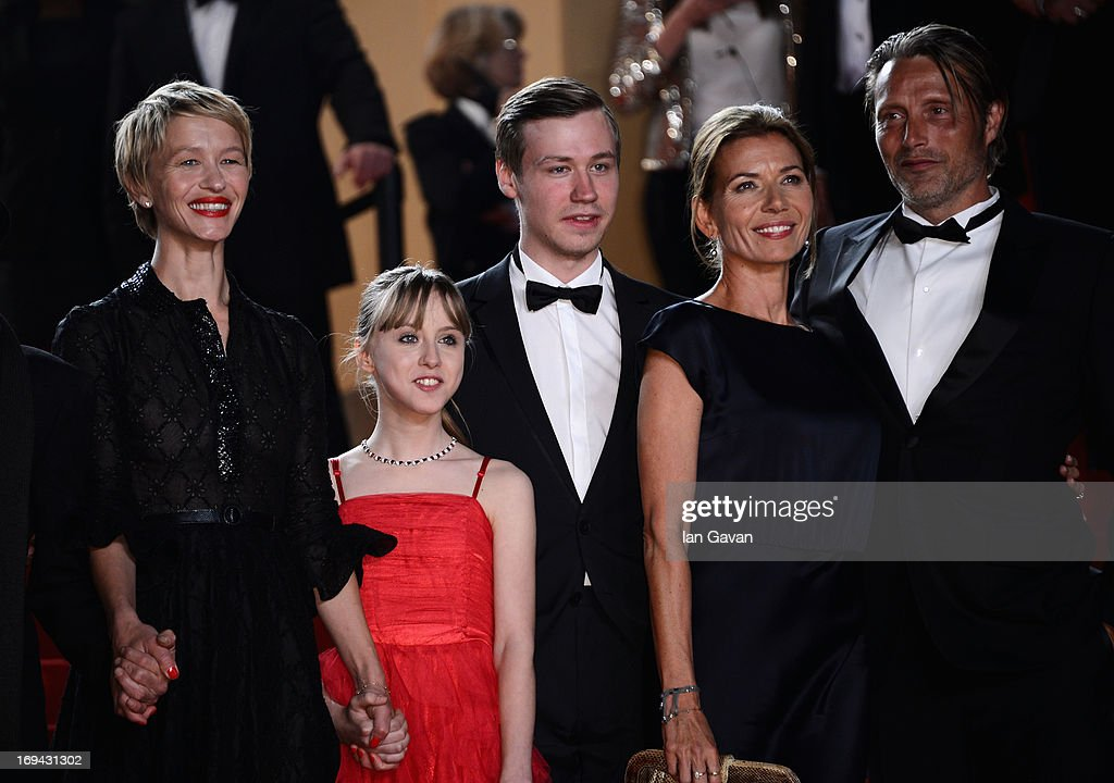 Delphine Chuillot, Melusine Mayance, Hanne Jacobsen and Mads Mikkelsen attend the 'Michael Kohlhaas' premiere during The 66th Annual Cannes Film Festival at the Palais des Festival on May 24, 2013 in Cannes, France.
