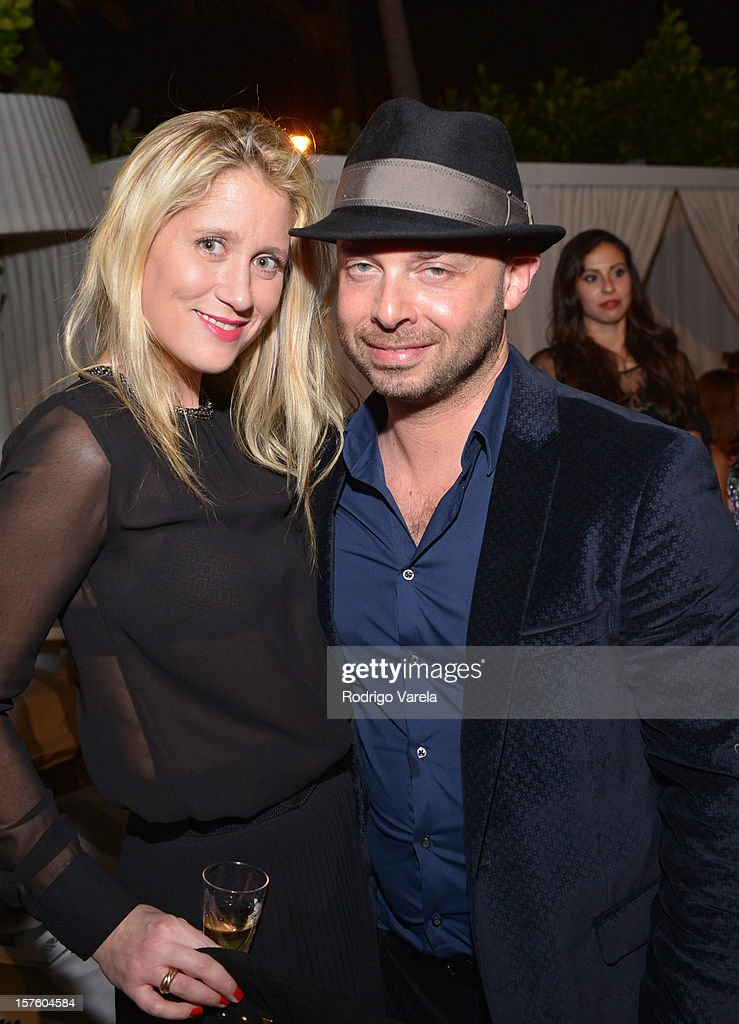 Delphine de Causans and Michael Klug attend the Whitewall Magazine Party At Delano Beach Club at Delano Beach Club on December 4, 2012 in Miami Beach, Florida.