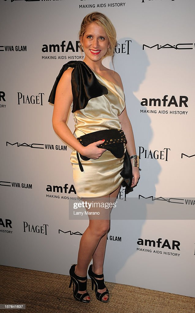 Delphine de Causans attends the amfAR Inspiration Miami Beach Party at Soho Beach House on December 6, 2012 in Miami Beach, Florida.