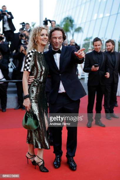 Delphine De Vigan and Francois Busnel attend the 'Based On A True Story' screening during the 70th annual Cannes Film Festival at Palais des...