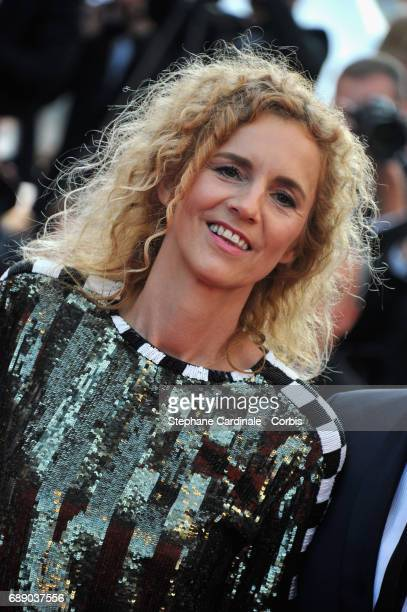 Delphine De Vigan attends the 'Based On A True Story' premiere during the 70th annual Cannes Film Festival at Palais des Festivals on May 27 2017 in...