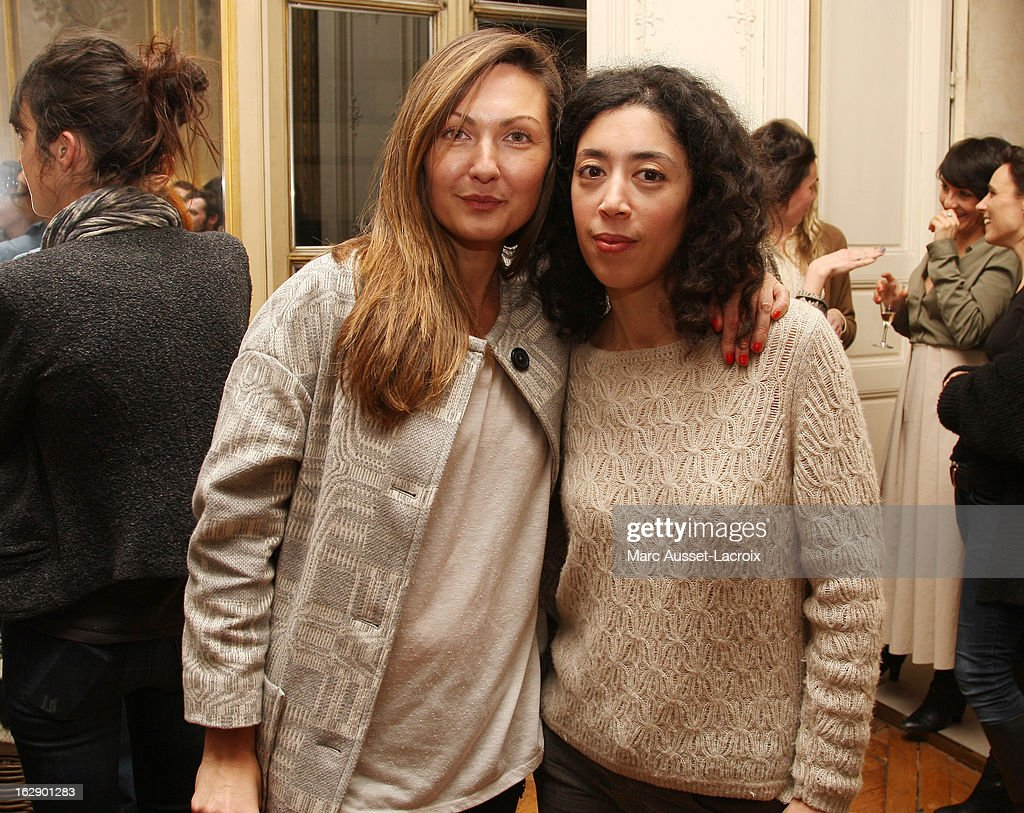 <a gi-track='captionPersonalityLinkClicked' href=/galleries/search?phrase=Delphine+Manivet+-+Fashion+Designer&family=editorial&specificpeople=13644542 ng-click='$event.stopPropagation()'>Delphine Manivet</a> (L) and Naidra Ayadi attend a private cocktail reception for the presentation of the <a gi-track='captionPersonalityLinkClicked' href=/galleries/search?phrase=Delphine+Manivet+-+Fashion+Designer&family=editorial&specificpeople=13644542 ng-click='$event.stopPropagation()'>Delphine Manivet</a> Collection during Paris Fashion Week Fall/Winter 2013 on February 28, 2013 in Paris, France.