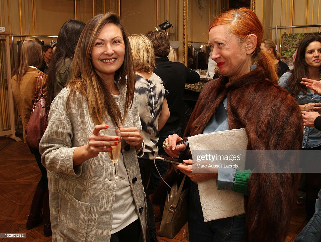 <a gi-track='captionPersonalityLinkClicked' href=/galleries/search?phrase=Delphine+Manivet+-+Fashion+Designer&family=editorial&specificpeople=13644542 ng-click='$event.stopPropagation()'>Delphine Manivet</a> (L) and Sylvette Lepers attend a private cocktail reception for the presentation of the <a gi-track='captionPersonalityLinkClicked' href=/galleries/search?phrase=Delphine+Manivet+-+Fashion+Designer&family=editorial&specificpeople=13644542 ng-click='$event.stopPropagation()'>Delphine Manivet</a> Collection during Paris Fashion Week Fall/Winter 2013 on February 28, 2013 in Paris, France.