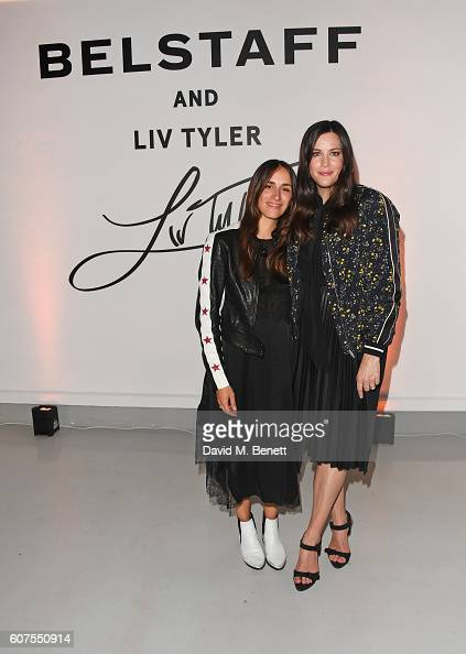 Delphine Ninous and Liv Tyler attend as Belstaff and Liv Tyler launch the Spring Summer 17 collection during London Fashion Week at Victoria House on...