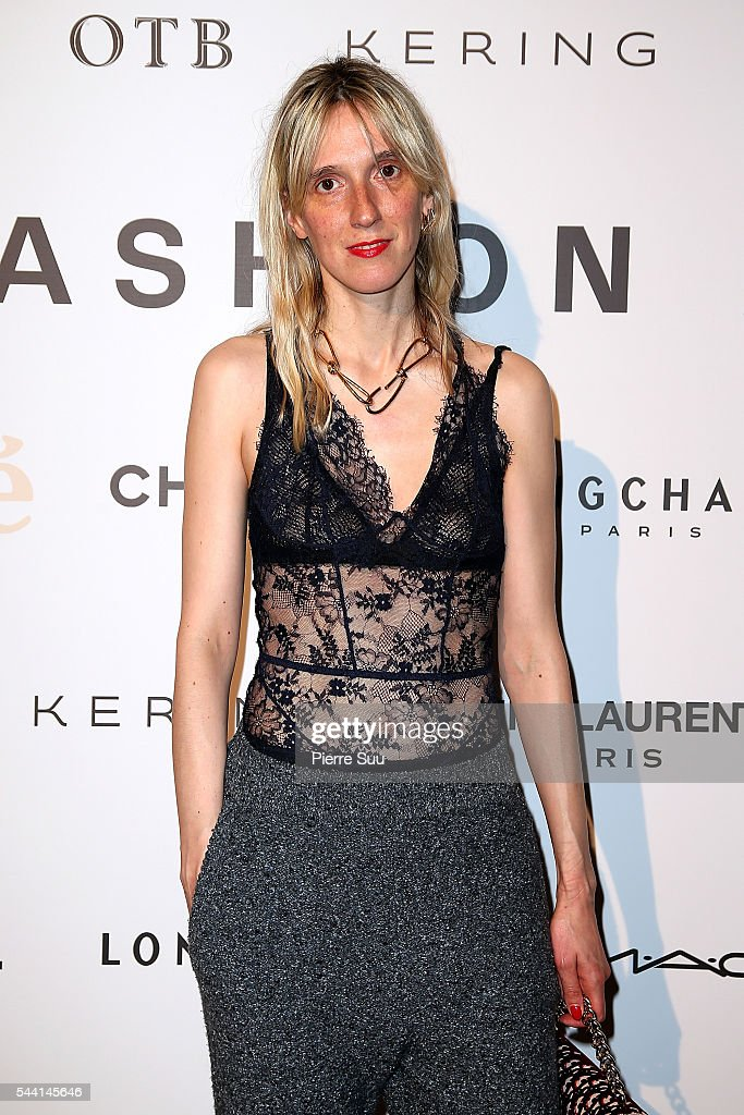 Delphine Roche attends the ANDAM Fashion Award Coktail Party at Ministere de la Culture on July 1, 2016 in Paris, France.