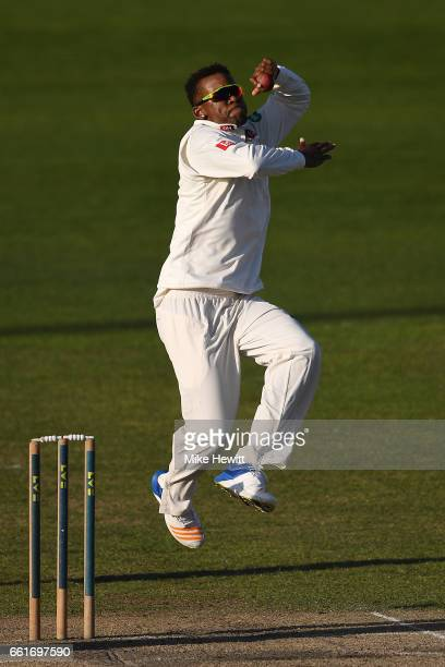 Delray Rawlins of Sussex in action during a friendly match between Sussex and Hampshire at The 1st Central County Ground on March 31 2017 in Hove...