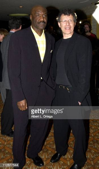 Delroy Lindo and Jon Amiel during 'The Core' Premiere at Mann'a National Theater in Westwood California United States