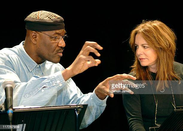 Delroy Lindo and Stockard Channing during The Exonerated London Photocall at The Riverside Studios in London Great Britain