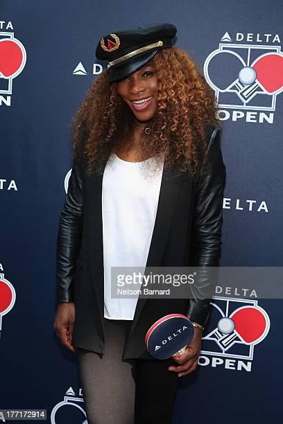 Delta Air Lines hosts the 'Delta Open' celebrity table tennis tournament with Serena Williams New York Ranger Henrik Lundqvist New York Knick Iman...