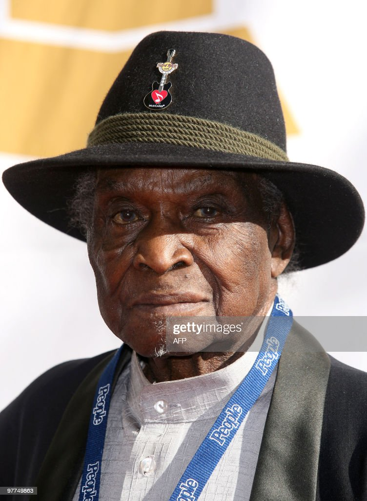 Delta Blues guitarist and singer David 'Honeyboy' Edwards arrives at the Recording Academy's Special Merit Awards Ceremony in Los Angeles, on January 30, 2010.