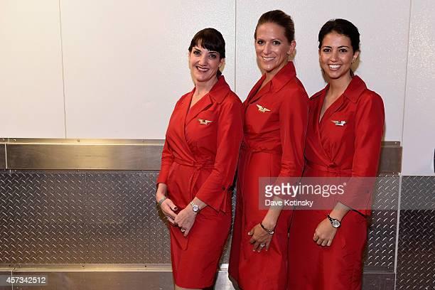 Delta brand ambassadors at Delta Presents Food with Altitude featuring Michael Chiarello Michelle Bernstein Linton Hopkins Andrea Robinson and...