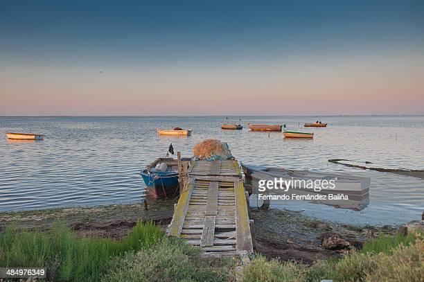 Delta del Ebro's pier at dawn
