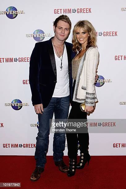 Delta Goodrem and Brian McFadden arrive at the premiere of 'Get Him To The Greek' at Event Cinemas George Street on June 11 2010 in Sydney Australia