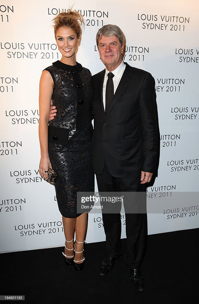 Delta Goodrem and Yves Carcelle arrive at the Louis Vuitton Maison reception on December 2 2011 in Sydney Australia