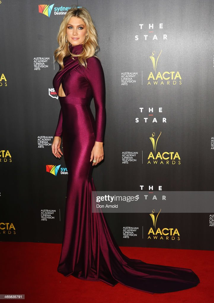 <a gi-track='captionPersonalityLinkClicked' href=/galleries/search?phrase=Delta+Goodrem&family=editorial&specificpeople=201895 ng-click='$event.stopPropagation()'>Delta Goodrem</a> arrives at the 3rd Annual AACTA Awards Ceremony at The Star on January 30, 2014 in Sydney, Australia.