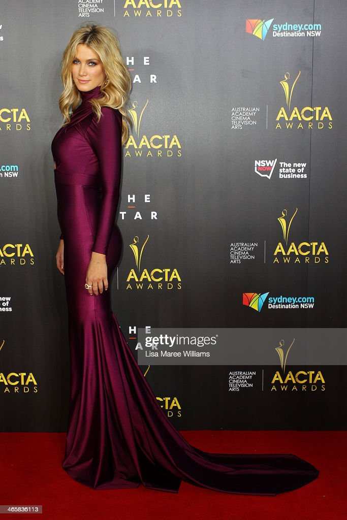 Delta Goodrem arrives at the 3rd Annual AACTA Awards Ceremony at The Star on January 30, 2014 in Sydney, Australia.