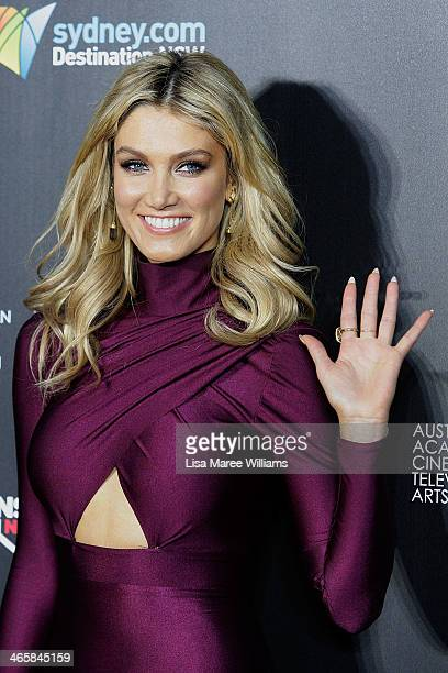 Delta Goodrem arrives at the 3rd Annual AACTA Awards Ceremony at The Star on January 30 2014 in Sydney Australia