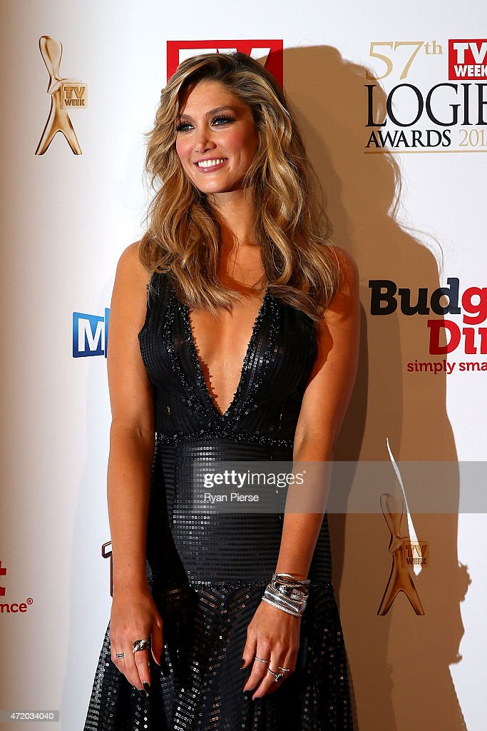 Delta Goodrem arrives at the 57th Annual Logie Awards at Crown Palladium on May 3, 2015 in Melbourne, Australia.
